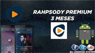 Cuentas Premium Rhapsody x 3 Meses