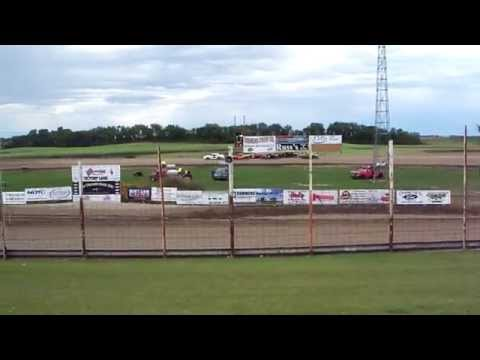 100 0710 2015-09-07 Devils Lake Speedway Pure Stock Heat 1 Roll Over (5:10)