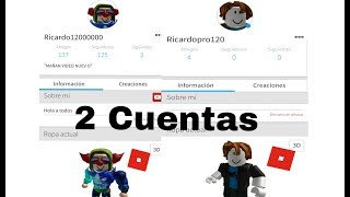 HOW TO HAVE 2 ROBLOX ACCOUNTS IN A MOBILE