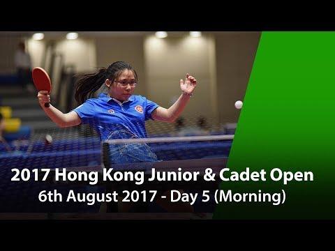 2017 ITTF Hang Seng Hong Kong Junior & Cadet Open - Day 5 (Morning)