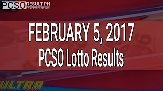 PCSO Lotto Results February 5, 2017 (6/58, 6/49, Swertres & EZ2)