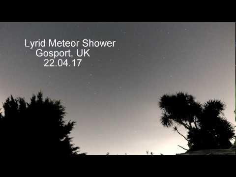 Lyrid Meteor Shower, UK