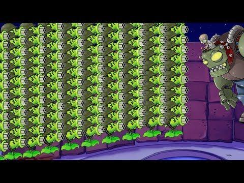 cách hack plants vs zombies 2 tren dien thoai - 999 Gatling Pea  vs Dr. Zomboss Plants vs Zombies Hack Epic 100%