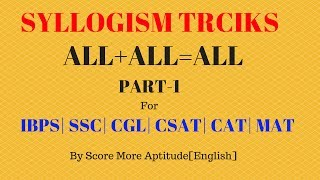 Syllogism Tricks For Bank PO Clerk SSC CGL | Part 1