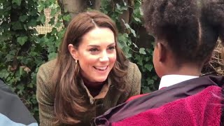 Girl Asks Kate If Queen Eats Pizza! Duchess Of Cambridge | King Henry Walk Garden 2019! ALL MOMENTS