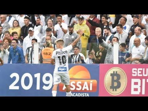 EMPATE HEROÍCO! Santos 3x3 Fortaleza Gols e Melhores Momentos 25/08/2019