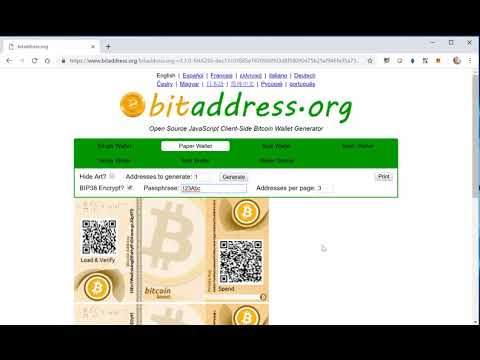 Billetera / Monedero Bitcoin De Papel