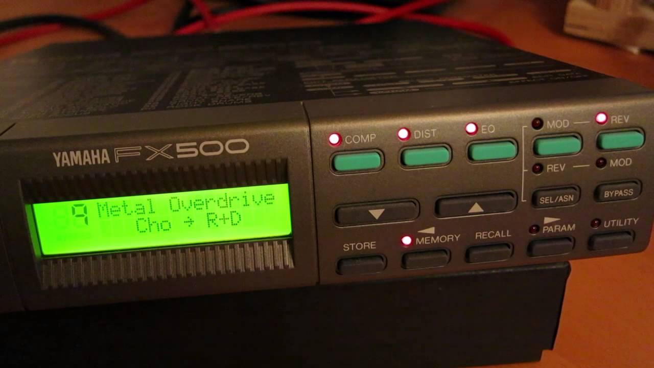 yamaha fx500 factory presets youtube rh youtube com