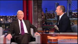 Jerry Seinfeld's last time on Letterman