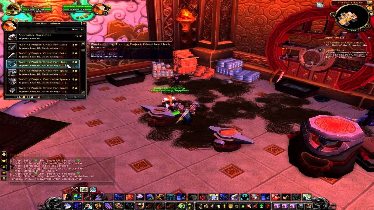 wow mop blacksmithing leveling changes patch 5 2 1 500 only using rh youtube com Best WoW Leveling Guide WoW Alliance Leveling Guide