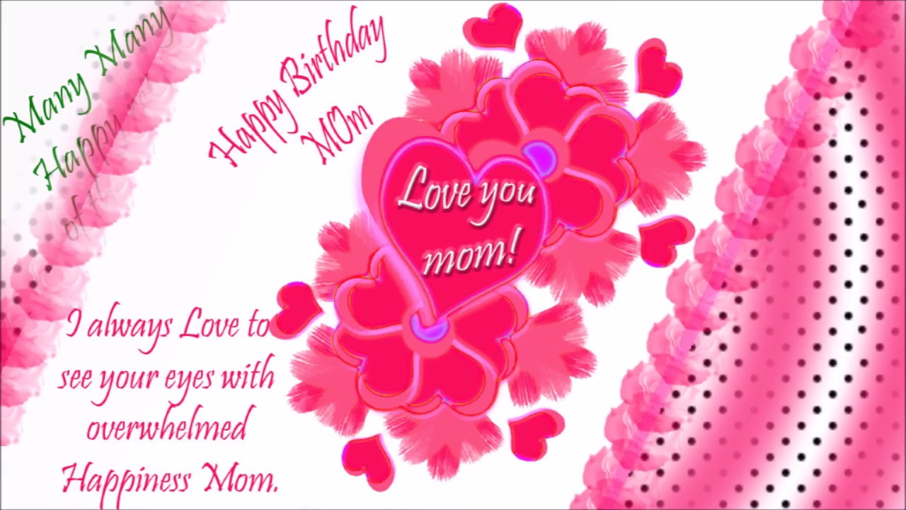 Animated birthday greeting to mother 3 youtube animated birthday greeting to mother 3 kristyandbryce Choice Image