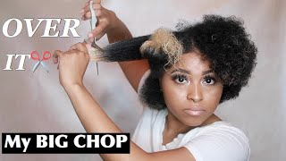 My BIG CHOP✂️ & Journey to Healthy Natural Hair | Impulsively Cutting my hair off at 2 am |Curly TWA