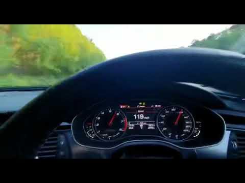 Audi RS6 top speed uk public road highway 202mph 325kmh c7 ...