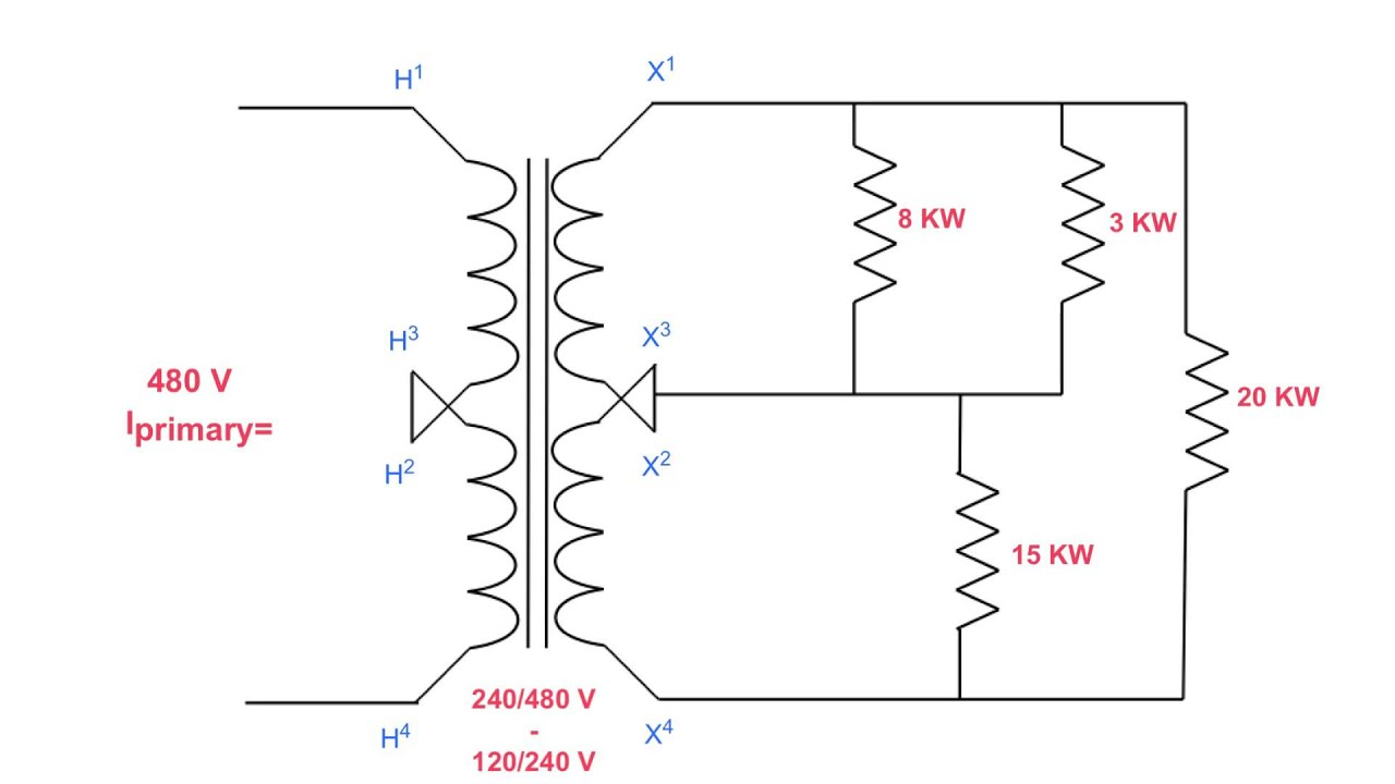 how to determine primary current on a 3 wire transformer  [ 1280 x 720 Pixel ]