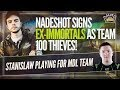 Nadeshot's 100 Thieves Sign Ex-Immortals Roster and Stanislaw's New CSGO Team?