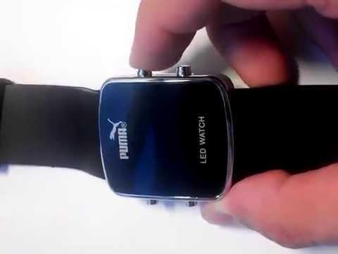 7053fb93 Светодиодные часы Puma LED watch - YouTube