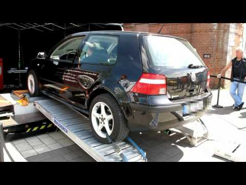 Golf IV 1.4 75hp Dyno Run - short video