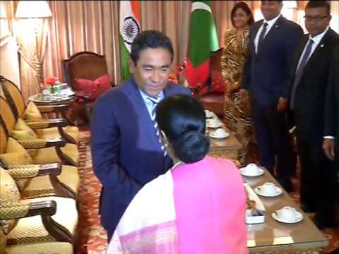 Indian foreign minister calls on Maldives President in New Delhi