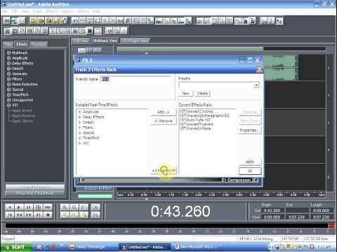 Hướng dẫn mix melody cơ bản Adobe audition