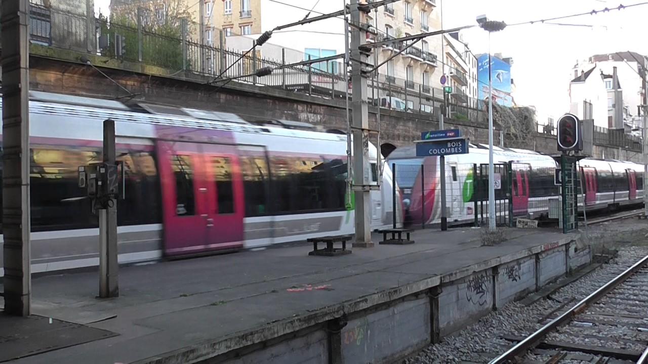 Gare De Bois Colombes - Z50000 A la gare de Bois Colombes sur la ligne J du Transilien YouTube