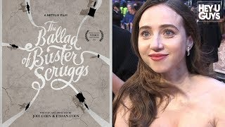 Zoe Kazan, Tim Blake Nelson on The Coen Brothers' The Ballad of Buster Scruggs - Premiere