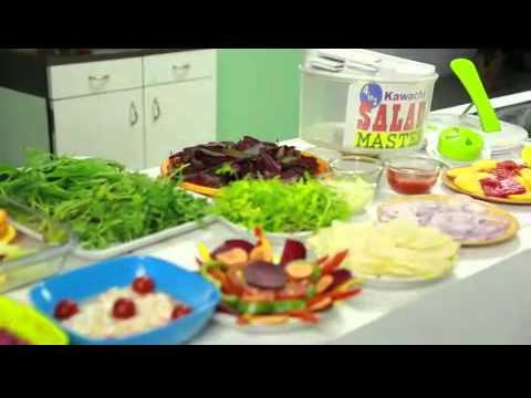 4 In 1 Salad Spinner Set With Mandoline Slicer Storage Lid Youtube