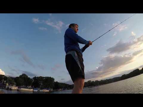 Bass Fishing On Powers Lake WI