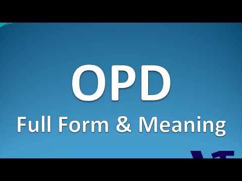 OPD Full Form | OPD का पुरा नाम
