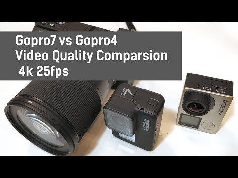 Gopro7 vs Gopro4. Video Quality Comparsion. 4k 25fps