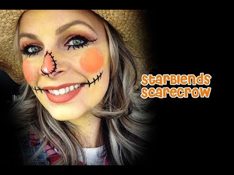 Scarecrow Face Painting Tutorial With Powders Youtube