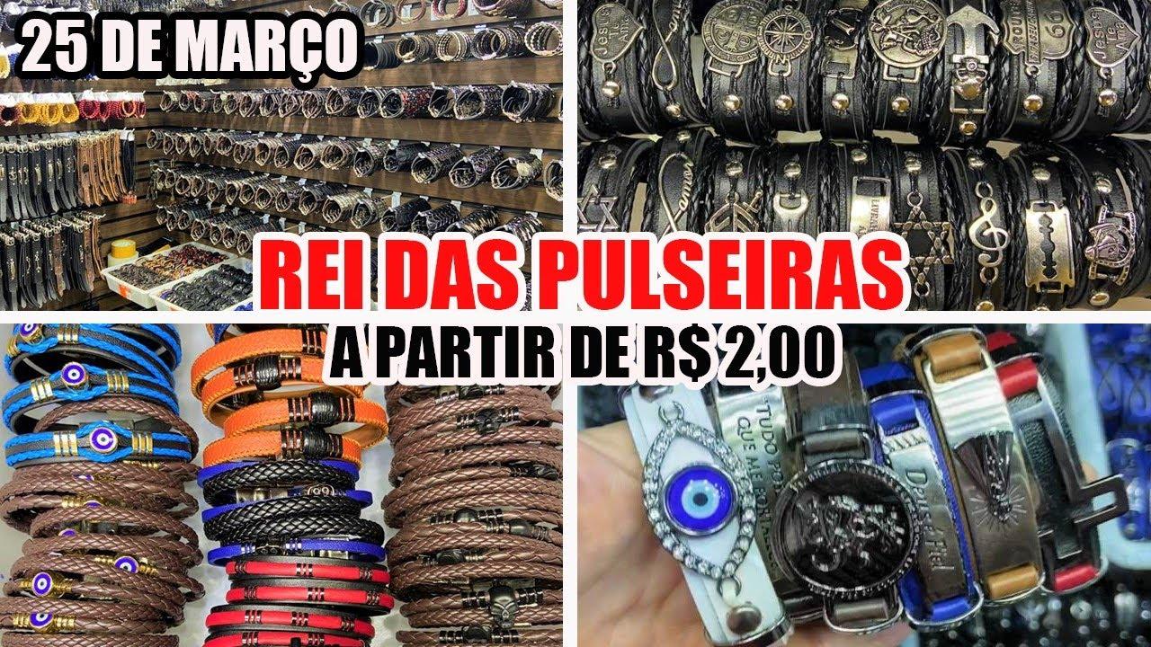 25 DE MARÇO - REI DAS PULSEIRAS MASCULINAS - A PARTIR DE R$ 2,00