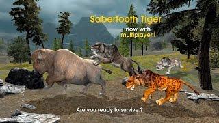 🐅👍Sabertooth Tiger Chase Simulator-Симулятор погони Смилодонa - By wild foot Games-Android