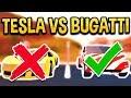 THE TESLA IS FASTER THAN THE BUGATTI!? UPGRADED TESLA VS BUGATTI (ROBLOX JAILBREAK)