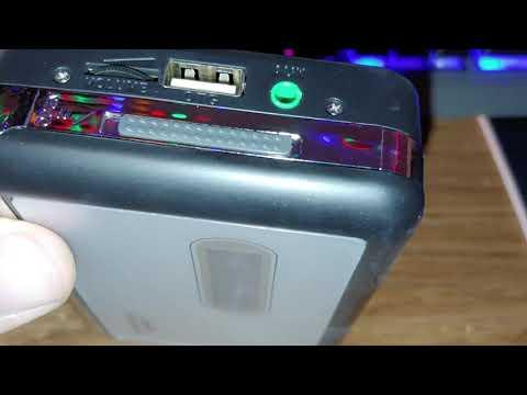 Sharper image cassette to mp3 converter/player