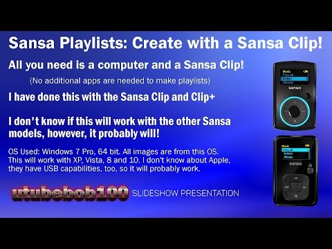 Sansa Playlists, create with Clip and Computer no apps needed!