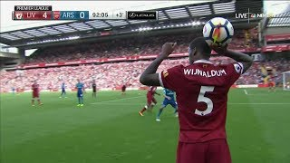 Georginio Wijnaldum vs Arsenal (H) 17/18