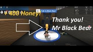 Reward +400 Honey & Quest Collect 500 Pollen, Mr Black Bear | Bee Swarm Simulator | Roblox