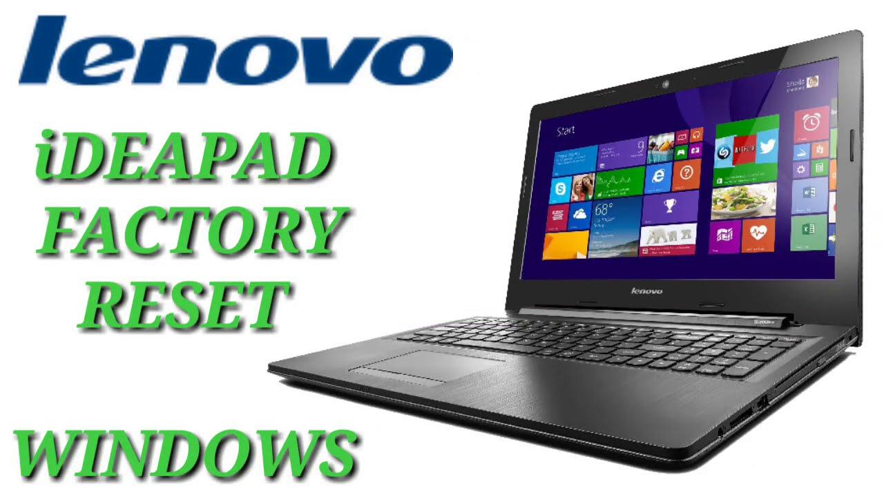 Lenovo Ideapad Factory Reset One key Recovery ll How To ...