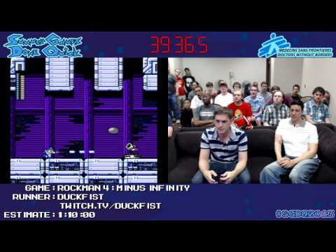 Rockman 4 Minus Infinity :: SPEED RUN in 1:00:43 *#SGDQ 2013*