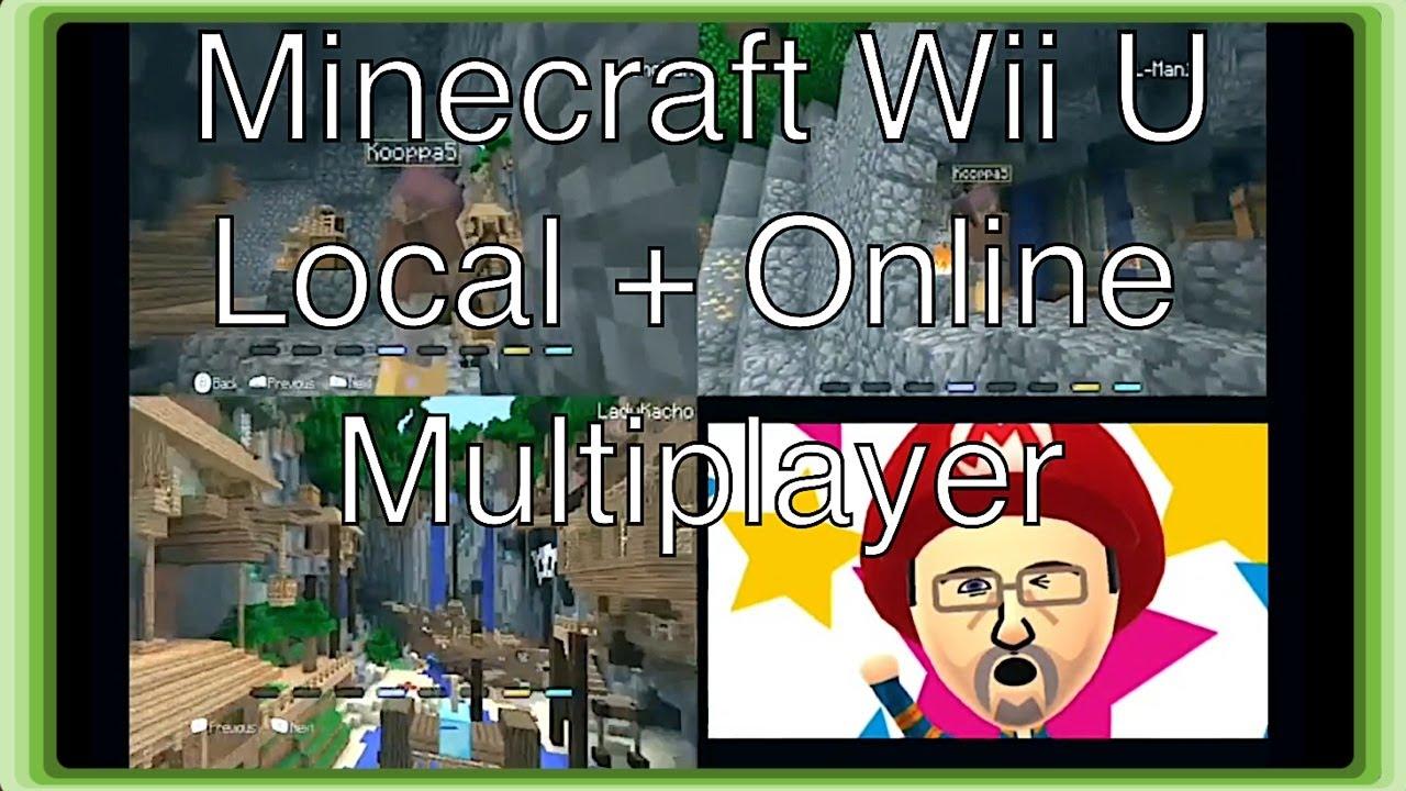 how to play minecraft wii u online