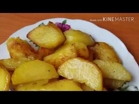 Картофель кусочками запеченный в мультиварке