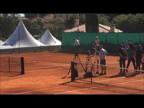 Novak Djokovic Practice Session Monte carlo 2017
