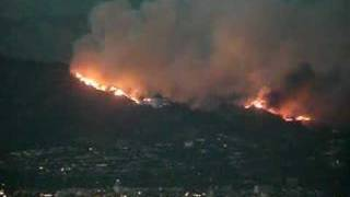 Griffith Park Fire - Griffith Observatory - 05/08/07 - 8pm