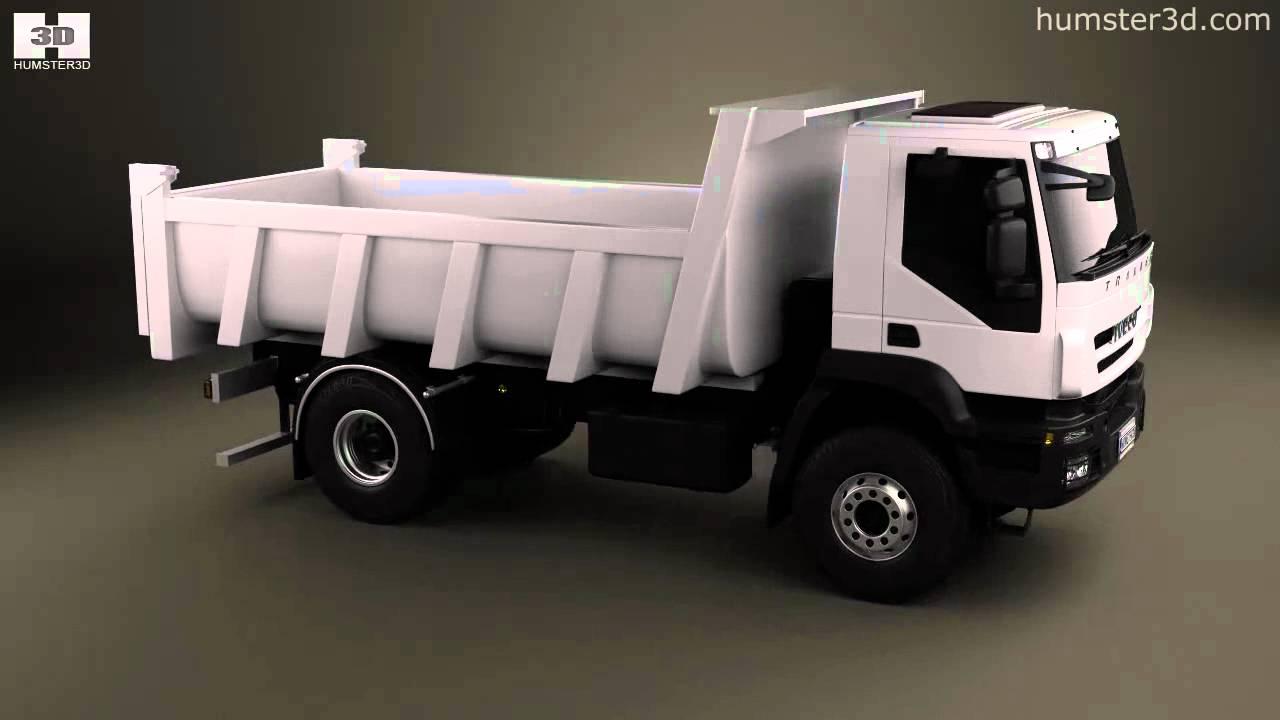 2 Axle Truck : Iveco trakker dump truck axle by d model store