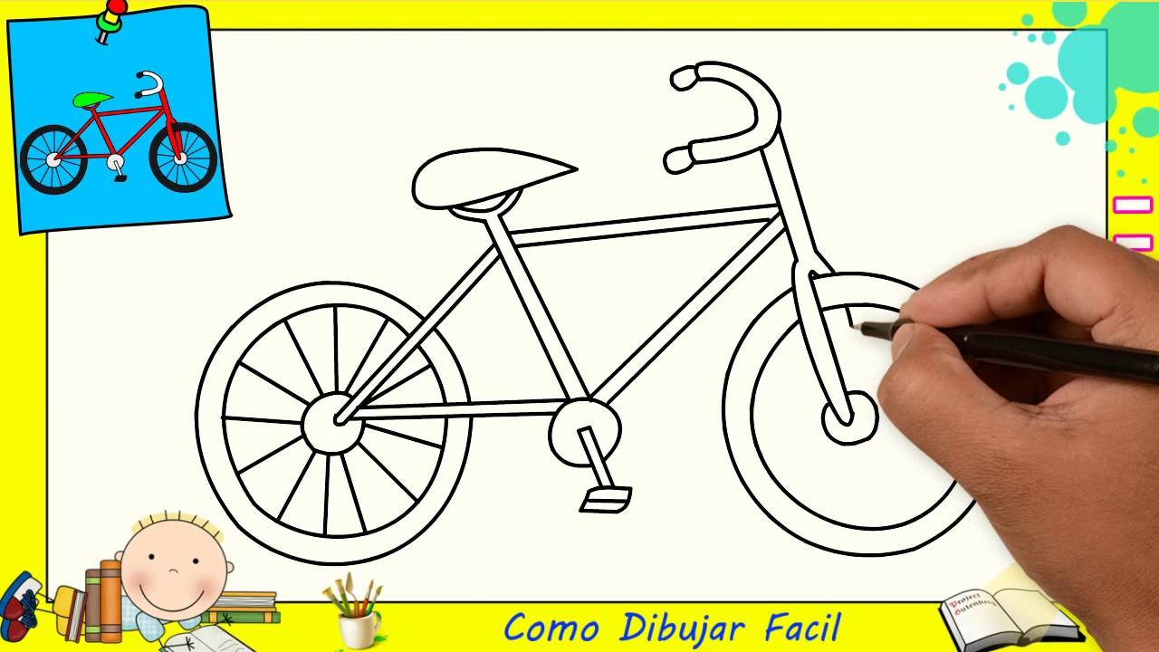 Como Dibujar Una Bicicleta Facil Paso A Paso Para Niños Y Principiantes 2 Youtube
