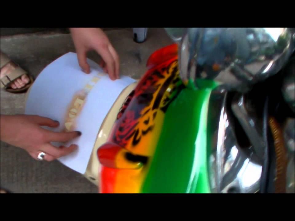 Scooter Custom Paint Job Lion Of Judah Youtube