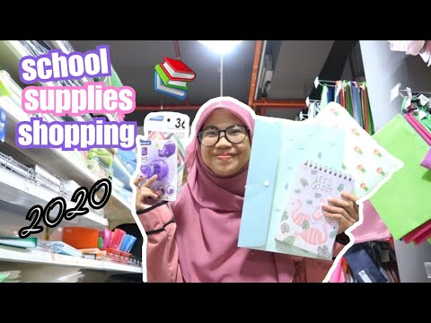 BACK TO SCHOOL SUPPLIES SHOPPING 2020 MALAYSIA + GIVEAWAY  MR DIY KEDAI RM 2 ECO SHOP