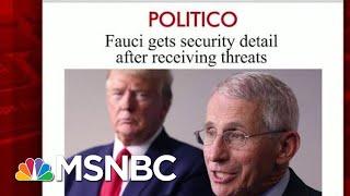 Dr. Fauci Now Needs Security Detail After Threats | Morning Joe | MSNBC