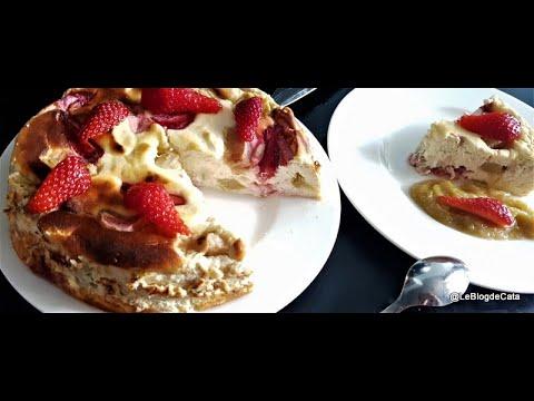 gâteau-au-fromage-blanc,-rhubarbe-et-fraises-(sans-sucre,-ig-bas)