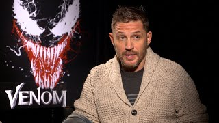 VENOM Cast Interviews - Tom Hardy, Riz Ahmed, Michelle Williams, Reid Scott & Jenny Slate